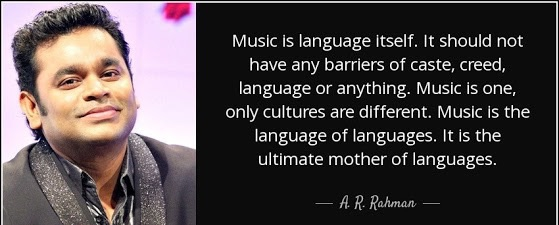 Music is the universal language.