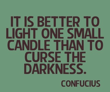 A profound quote on you being an example to others, even if your contribution is small you can still change the world.
