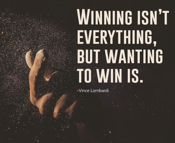 Strive to be a winner.