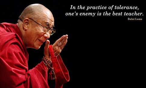 Image result for dalai lama quotes learning tolerance best teacher is your enemy