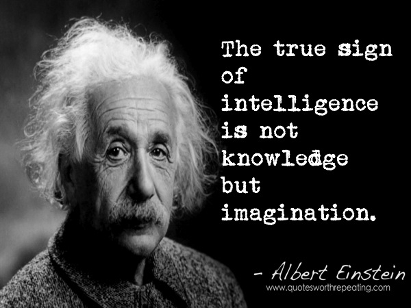 Imagination and knowledge go hand in hand.