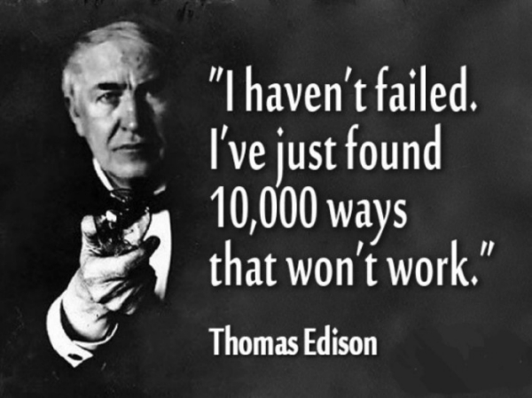 Failure is never the end result...