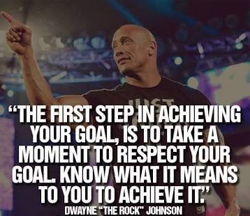 Respect the goals you set first, you then have the best chance of achieving those goals.