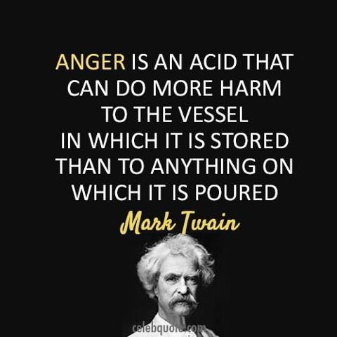 Anger is powerful force that if kept inside, will ultimately destroy you.