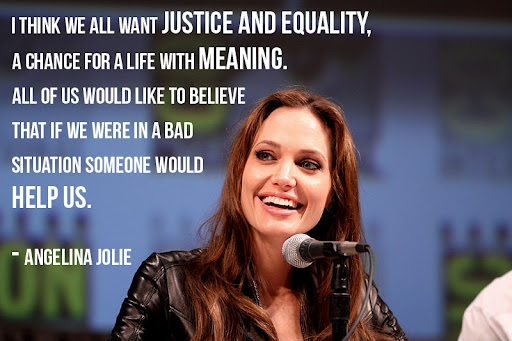We all want justice and equality...