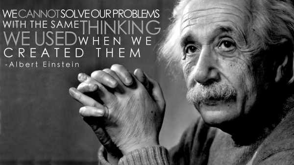 Change your thinking to solve problems...